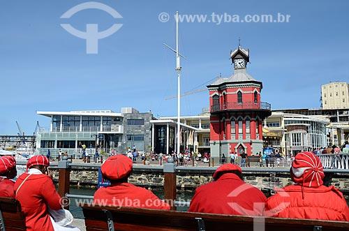 Torre do Relógio e a Ponte Levadiça no Complexo turístico Victoria & Alfred  - Cidade do Cabo - Província do Cabo Ocidental - África do Sul