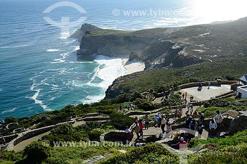 Praia Dias e Cabo da Boa Esperança vistos a partir do Farol de Cape Point  - Cidade do Cabo - Província do Cabo Ocidental - África do Sul