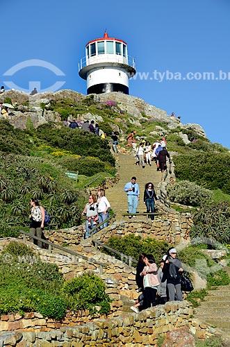 Turistas no Farol de Cape Point (1859)  - Cidade do Cabo - Província do Cabo Ocidental - África do Sul