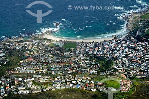 Vista da praia de Camps Bay  - Cidade do Cabo - Província do Cabo Ocidental - África do Sul