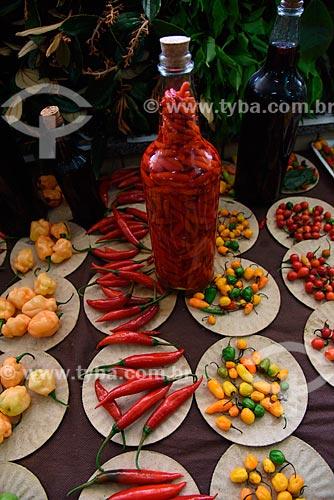 Pimentas à venda no Grande Mercado de Madureira - mais conhecido como Mercadão de Madureira  - Rio de Janeiro - Rio de Janeiro (RJ) - Brasil