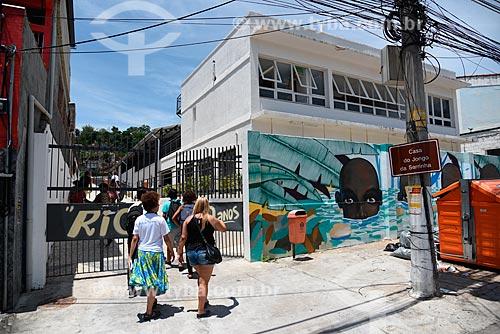 Fachada da sede do Grupo Cultural Jongo da Serrinha  - Rio de Janeiro - Rio de Janeiro (RJ) - Brasil