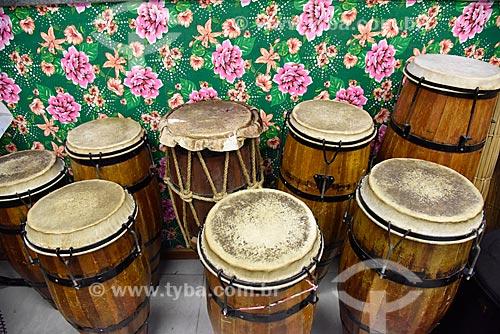 Atabaques na sede do Grupo Cultural Jongo da Serrinha  - Rio de Janeiro - Rio de Janeiro (RJ) - Brasil