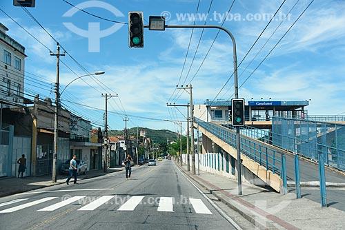 Vista da Estação Cavalcanti da Supervia - concessionária de serviços de transporte ferroviário  - Rio de Janeiro - Rio de Janeiro (RJ) - Brasil