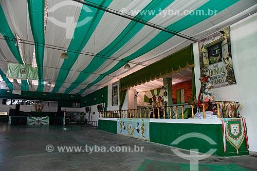 Interior da quadra da escola de samba Império Serrano  - Rio de Janeiro - Rio de Janeiro (RJ) - Brasil