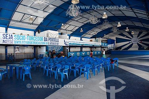 Interior da quadra de escola de samba Portela  - Rio de Janeiro - Rio de Janeiro (RJ) - Brasil