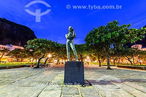 Escultura à Frédéric Chopin (1944) na orla da Praia Vermelha durante o amanhecer  - Rio de Janeiro - Rio de Janeiro (RJ) - Brasil