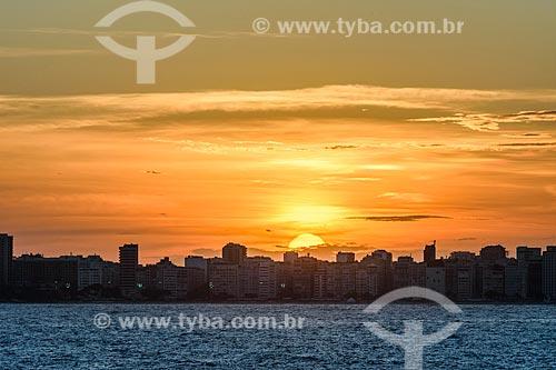 Vista da orla da cidade do Rio de Janeiro a partir da Ilha de Cotunduba na Baía de Guanabara  - Rio de Janeiro - Rio de Janeiro (RJ) - Brasil