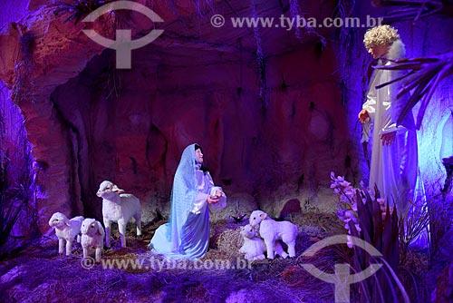Presépio na exposição Uma Aventura de Natal - no Armazém 2 do Cais da Gamboa  - Rio de Janeiro - Rio de Janeiro (RJ) - Brasil