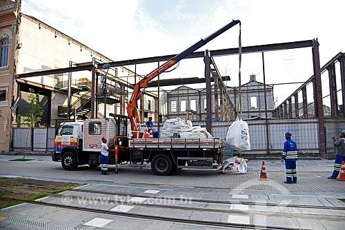 Canteiro de obras Via Binário do Porto  - Rio de Janeiro - Rio de Janeiro (RJ) - Brasil