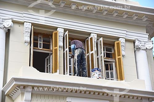Detalhe de obra em casa na Rua das Laranjeiras  - Rio de Janeiro - Rio de Janeiro (RJ) - Brasil