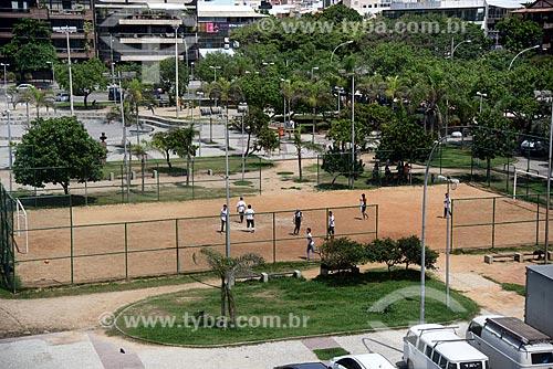 Campo de futebol da Praça São Perpétuo - também conhecida como Praça do Ó  - Rio de Janeiro - Rio de Janeiro (RJ) - Brasil