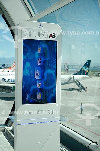Terminal de autoatendimento no Aeroporto Santos Dumont  - Rio de Janeiro - Rio de Janeiro (RJ) - Brasil