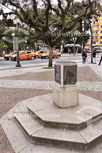 Marco Zero - Referência geodésica localizado na praça Tiradentes  - Curitiba - Paraná (PR) - Brasil
