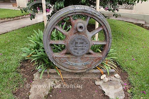 Marco comemorativo dos 100 anos da inauguração da linha férrea Curitiba-Lapa  - Lapa - Paraná (PR) - Brasil