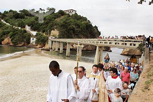 Procissão da Festa de Nossa Senhora da Boa Viagem, na praia da Boa Viagem  - Niterói - Rio de Janeiro (RJ) - Brasil