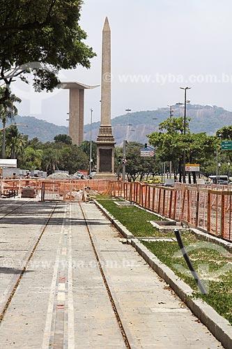 Obras para implantação do VLT (Veículo Leve Sobre Trilhos) na Avenida Rio Branco  - Rio de Janeiro - Rio de Janeiro (RJ) - Brasil