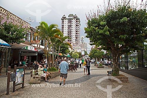 Calçadão da Rua Wenceslau Braz  - São Lourenço - Minas Gerais (MG) - Brasil