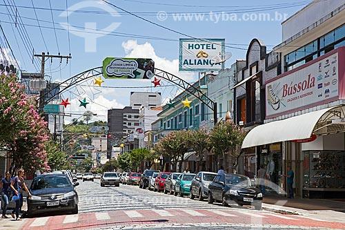 Vista da Avenida Dom Pedro II  - São Lourenço - Minas Gerais (MG) - Brasil