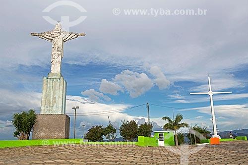 Estátua de Cristo Redentor no Morro do Cruzeiro  - Caxambu - Minas Gerais (MG) - Brasil