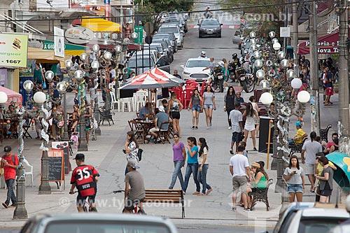 Calçadão da Rua João Pinheiro  - Caxambu - Minas Gerais (MG) - Brasil