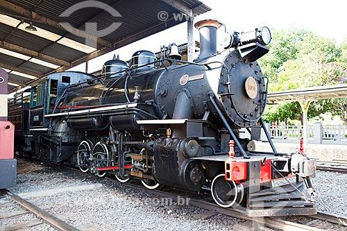 Locomotiva The Baldwin Locomotive Works 1424, USA 59712 (1927) - que faz o passeio turístico entre as cidades de São Lourenço e Soledade de Minas  - São Lourenço - Minas Gerais (MG) - Brasil
