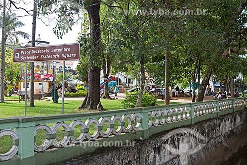 Vista geral da Praça XVI de Setembro  - Caxambu - Minas Gerais (MG) - Brasil