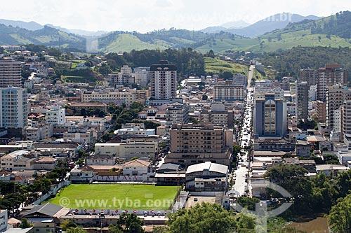 Vista geral da cidade de São Lourenço com Avenida Dom Pedro II  - São Lourenço - Minas Gerais (MG) - Brasil