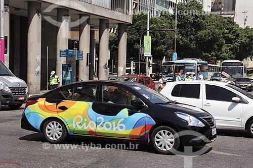 Carro oficial à serviço do Comitê Olímpico durante os Jogos Olímpicos - Rio 2016  - Rio de Janeiro - Rio de Janeiro (RJ) - Brasil