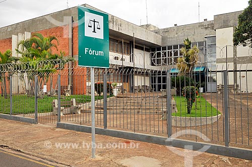 Fachada do Fórum da cidade de Bebedouro  - Bebedouro - São Paulo (SP) - Brasil