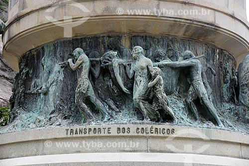 Detalhe do Monumento aos Heróis da Batalha de Laguna e Dourados - Transporte dos Coléricos - na Praça General Tibúrcio  - Rio de Janeiro - Rio de Janeiro (RJ) - Brasil