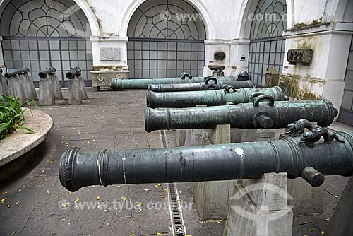 Canhões no Pátio dos Canhões do Museu Histórico Nacional  - Rio de Janeiro - Rio de Janeiro (RJ) - Brasil
