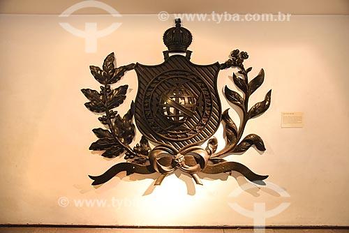 Brasão imperial - parte do acervo permanente do Museu Histórico Nacional  - Rio de Janeiro - Rio de Janeiro (RJ) - Brasil