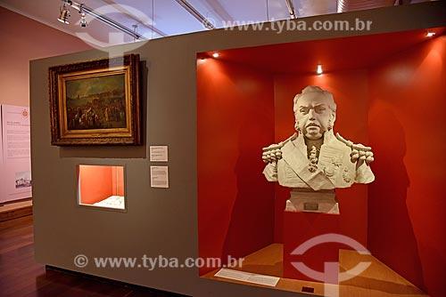 Busto de Dom João VI (século XIX) - parte da exposição permanente A Construção da Nação - no Museu Histórico Nacional  - Rio de Janeiro - Rio de Janeiro (RJ) - Brasil