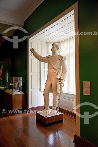 Estátua de Dom Pedro I (século XIX) - parte da exposição permanente A Construção da Nação - no Museu Histórico Nacional  - Rio de Janeiro - Rio de Janeiro (RJ) - Brasil