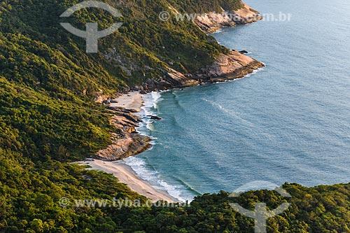 Vista da Praia Funda e Praia do Inferno a partir da Pedra do Telégrafo no Morro de Guaratiba  - Rio de Janeiro - Rio de Janeiro (RJ) - Brasil