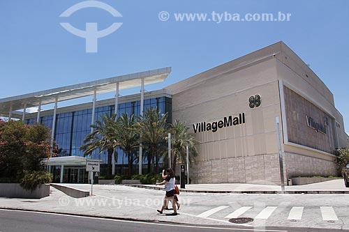 Fachada do Shopping Village Mall  - Rio de Janeiro - Rio de Janeiro (RJ) - Brasil