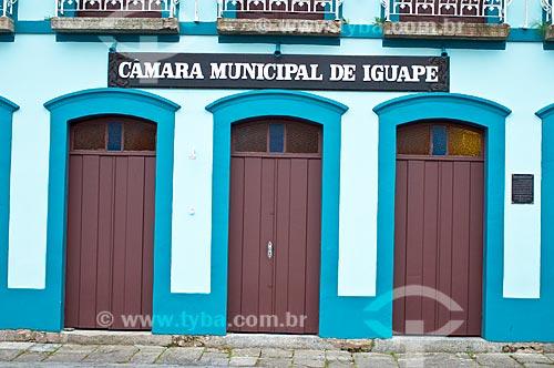 Fachada da Câmara Municipal de Iguape  - Iguape - São Paulo (SP) - Brasil
