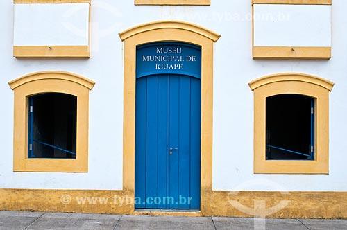 Fachada do Museu Municipal de Iguape  - Iguape - São Paulo (SP) - Brasil
