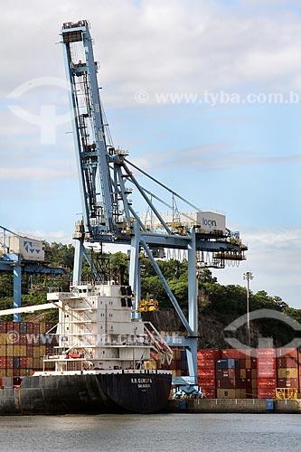 Navio cargueiro R.R. Europa no Terminal Capuaba  - Vila Velha - Espírito Santo (ES) - Brasil