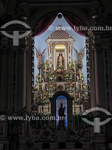 Detalhe do altar da Basílica Senhor Bom Jesus de Iguape e Nossa Senhora das Neves  - Iguape - São Paulo (SP) - Brasil