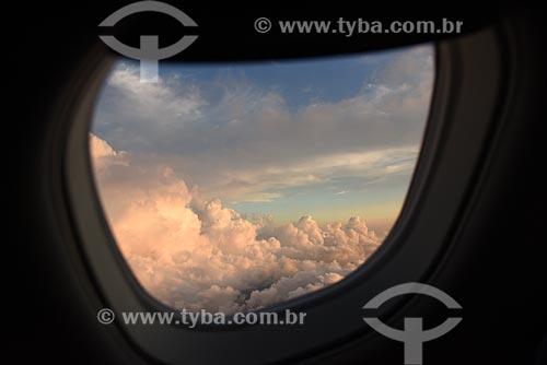 Nuvens durante sobrevoo à cidade do Rio de Janeiro  - Rio de Janeiro - Rio de Janeiro (RJ) - Brasil