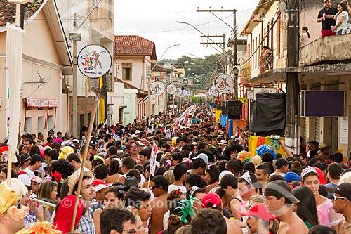 Desfile do Bloco do Falecido na Avenida Getúlio Vargas  - Guarani - Minas Gerais (MG) - Brasil