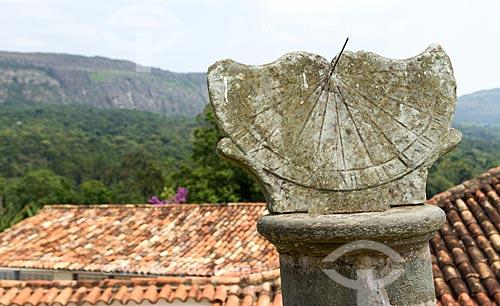 Detalhe de Relógio de sol em pedra-sabão  - Tiradentes - Minas Gerais (MG) - Brasil