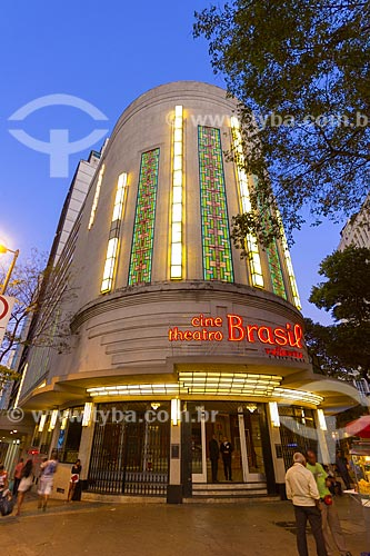Fachada do Centro Cultural Cine Theatro Brasil Vallourec - antigo Cine Theatro Brasil (1932)  - Belo Horizonte - Minas Gerais (MG) - Brasil