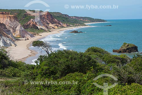 Vista da orla da Praia de Arapuca  - Conde - Paraíba (PB) - Brasil