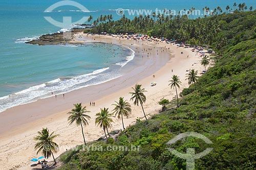 Vista da orla da Praia de Coqueirinhos  - Conde - Paraíba (PB) - Brasil