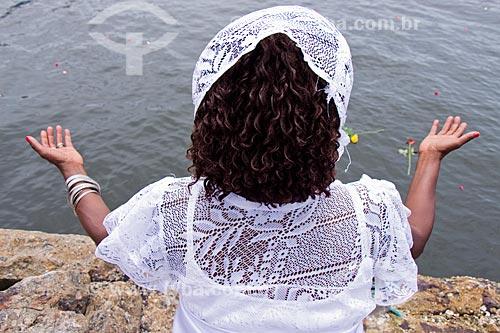 Cortejo em homenagem a Iemanjá - Organizado pelo Afoxé Estrela Doyá  - Rio de Janeiro - Rio de Janeiro (RJ) - Brasil
