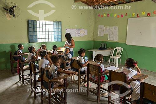 Interior da Escola Indígena Acilon Ciriaco da Luz Pin Truká na Aldeia Camaleão -   - Cabrobó - Pernambuco (PE) - Brasil