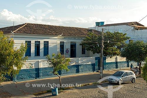 Fachada da Escola Estadual de Ensino Fundamental Dr Miguel Santa Cruz (1936)  - Monteiro - Paraíba (PB) - Brasil